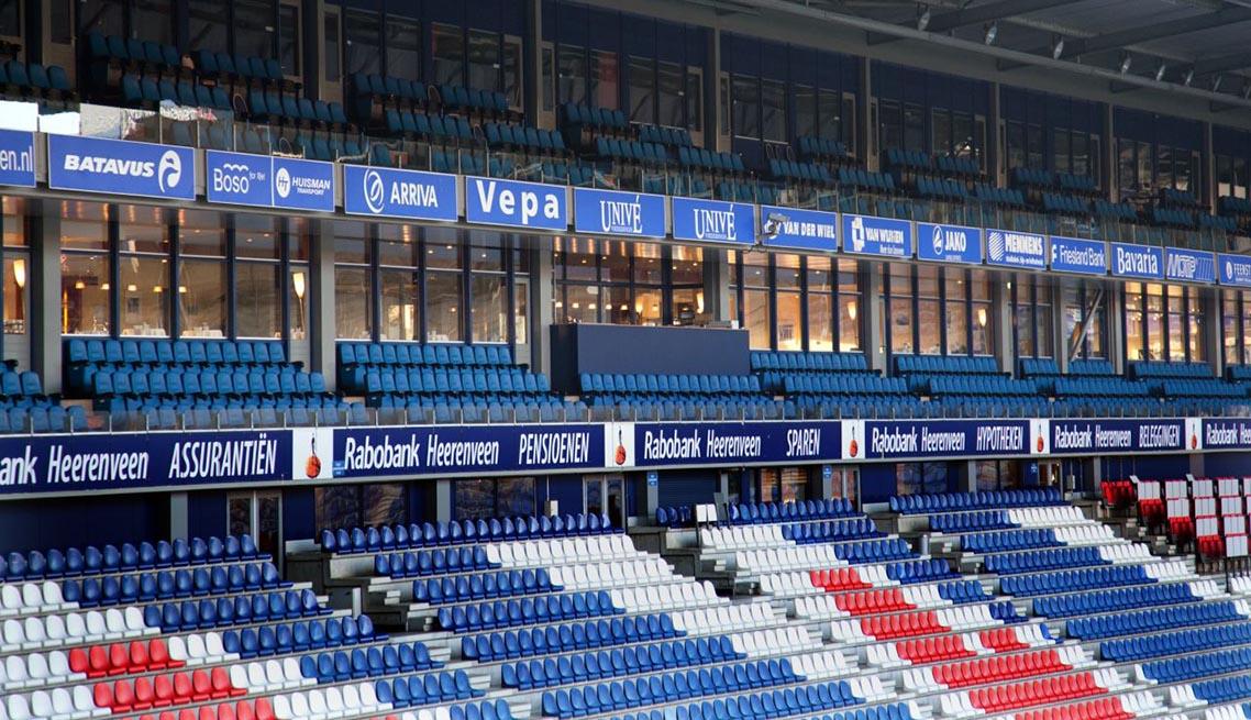 Asser Glas en Verfhandel, project Abe Lenstra Stadion Heerenveen